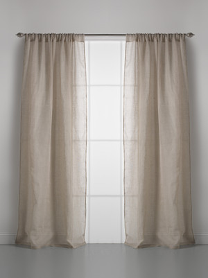 Solid Linen Gauze Natural Window Curtain
