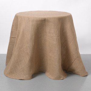 Couture Dreams Solid Natural Jute Table Cloth