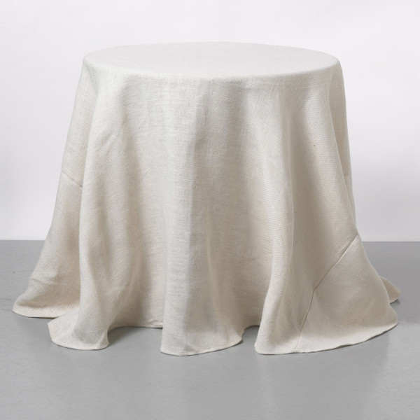 Attirant Couture Dreams Solid Ivory Jute Table Cloth