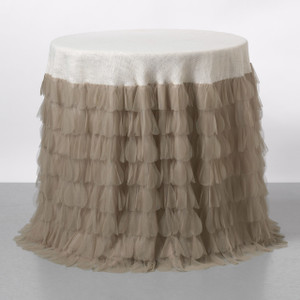 Chichi Sable Petal & Ivory Jute Tablecloth