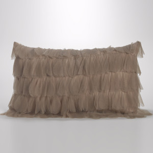 Couture Dreams Chichi Sable Petal Decorative Pillow