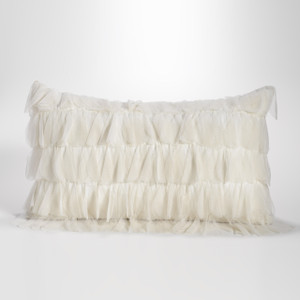 Couture Dreams Chichi Ivory Petal Decorative Pillow