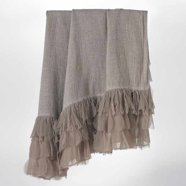 Couture Dreams Chichi Flax Linen Decorative Throw