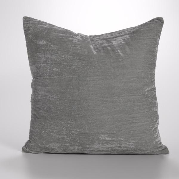 Couture Dreams Luscious Platinum Silk Velvet Decorative pillow