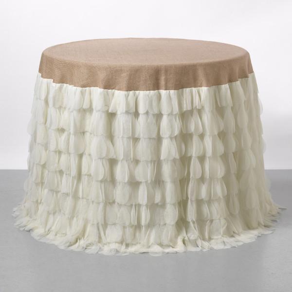Chichi Ivory Petal & Natural Jute Tablecloth