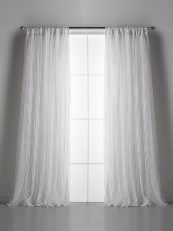 Couture Dreams Whisper White Window Curtain (pair)