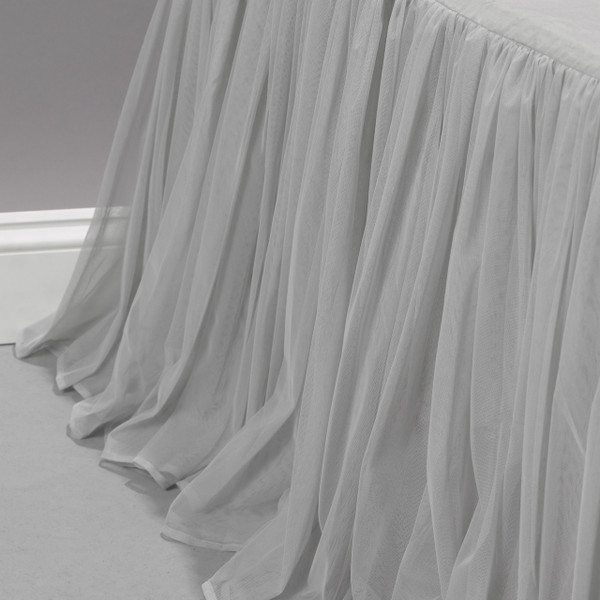 Couture Dreams Whisper Platinum Bedskirt