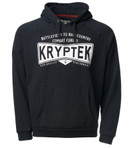 Kryptek Covert Men's Hoodie Black / White Front