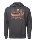 Flag Hoodie Charcoal Front