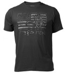 Kryptek Flag T-Shirt Black Front