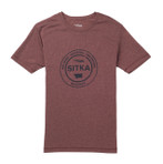 Sitka Seal Tee Umber Heather Front