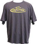 RealTree Grey/Yellow Logo DriFit TShirt. 100% Polyester