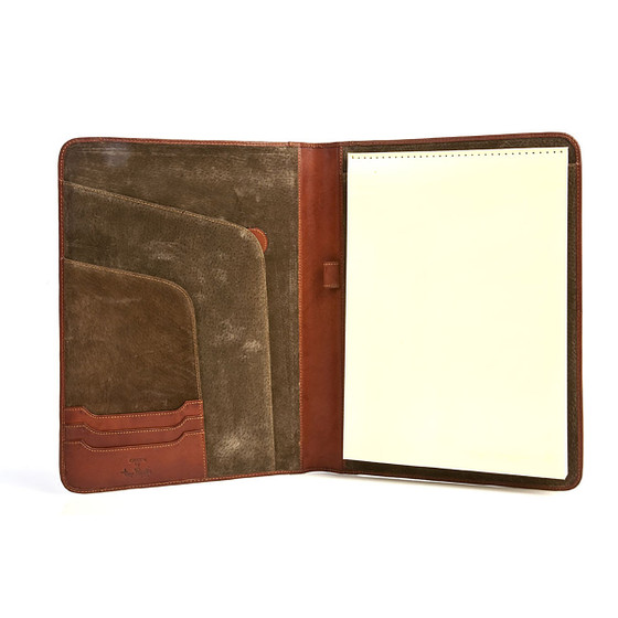 Prima Business Writing Pad PG803301 Cognac Open