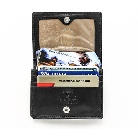 Prima Business and Credit Card Case Wallet with I.D. PG403301 | Black