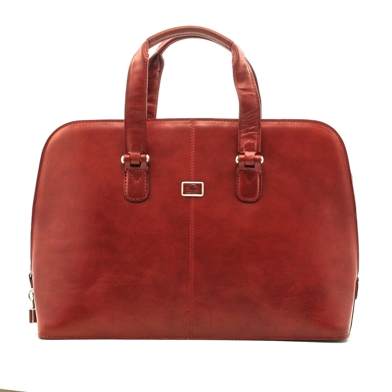 7184dba4ca85 Tony Perotti Womens Italian Bull Leather Classic Zip-Around Laptop Tote Bag