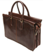 "Bella Fellini 17"" Double Compartment Bag PI029701 Brown Back"