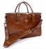 "Bella Fellini 17"" Double Compartment Bag PI029701 Cognac Front 2"