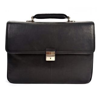 Verona Triple Compartment Briefcase PG013001 Front Black
