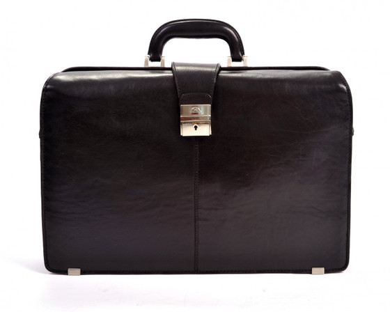 "Benevento 17"" Lawyer's Briefcase PI018002 Front Black"