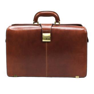 "Benevento 17"" Lawyer's Briefcase PI018002 Front Cognac"