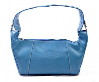 Prima Multi-Compartment Handbag SAJ-8540 Aqua Blue Front