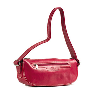 Handmade Italian Leather Handbag | Fuchsia | Front