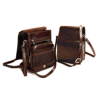 Firenze Vertical Flap-Over Carry All Bag PI200901 Brown Group