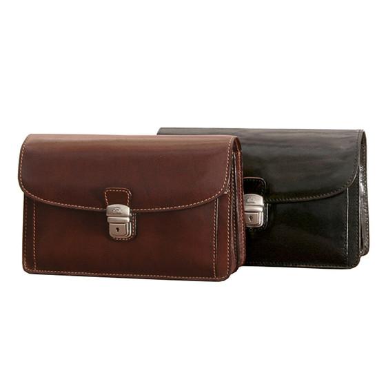Tony perotti unisex italian bull leather horizontal compact mini veneto horizontal flap over carry all bag pi212001 group colourmoves