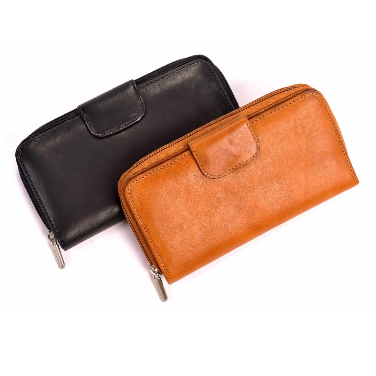 Tony Perotti Womens Italian Cow Leather Grande Zip-Around Clutch ... 788b9fe5d6