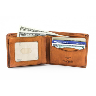 Prima Bi-Fold with Front ID Flap PG418204 | Color Honey | Front Open With Cards