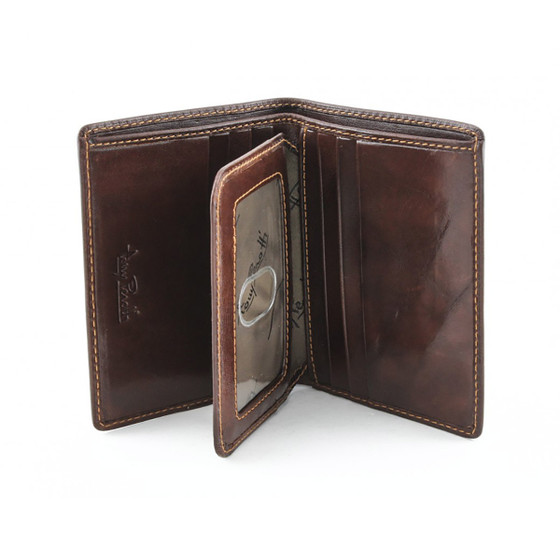 Ultimo Front Pocket Wallet with I.D. Flap Card Case PI418401 Front Open Brown
