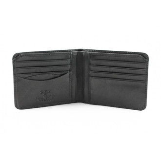 Prima Bi-Fold Wallet PG410101 Front Open Empty Black