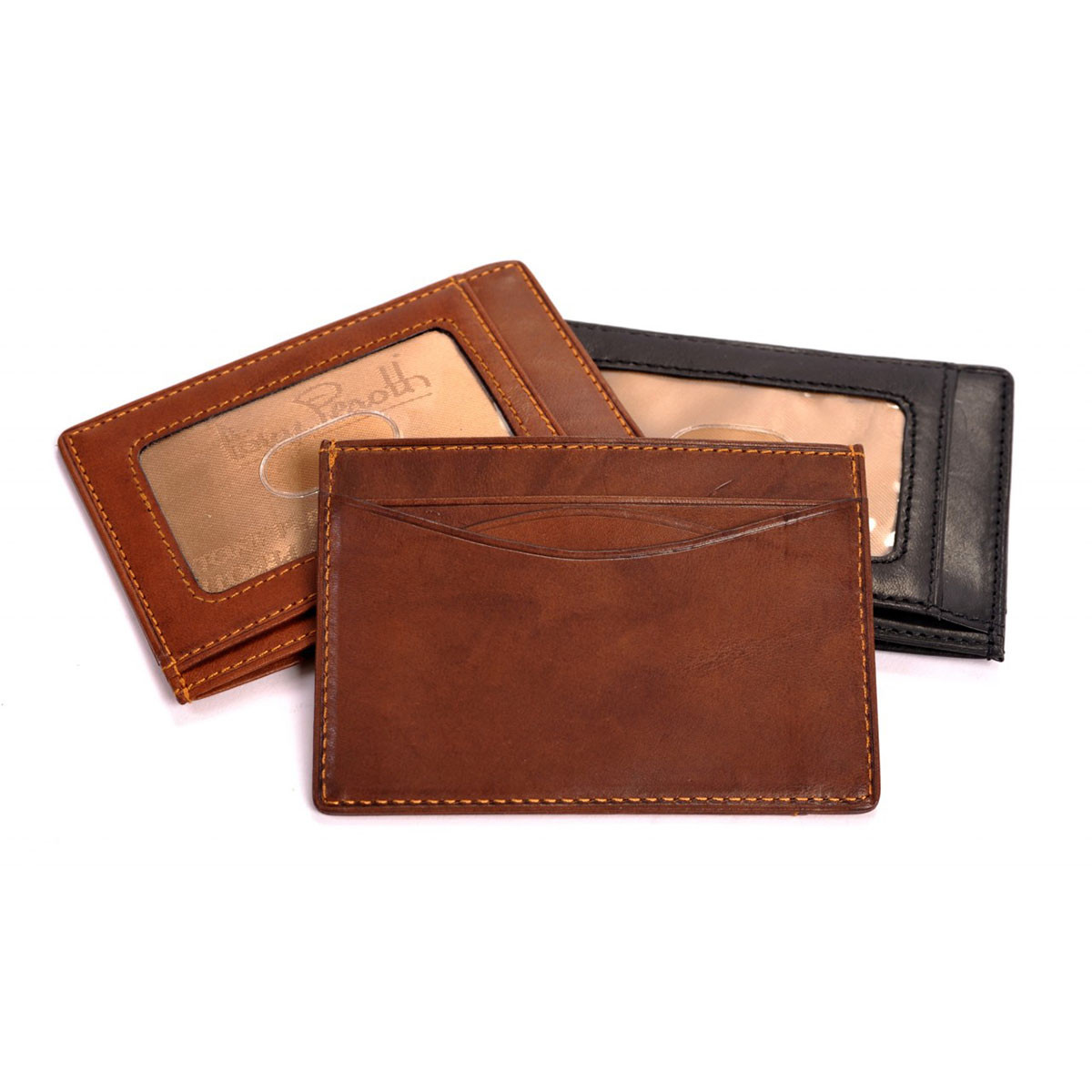 Tony Perotti Italian Leather Slim Front Pocket Bifold Weekend Wallet