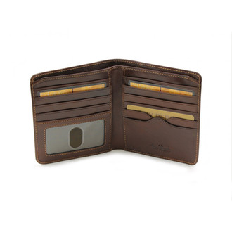 Ultimo Hipster Wallet with I.D. Window PI41830 Open Brown