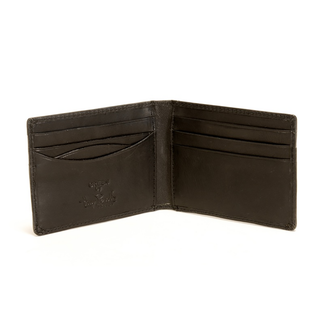 Prima Front Pocket Wallet with Credit Card Slots PG413001| Color Black | Open