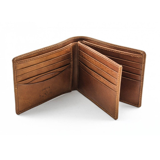 Prima Tri-Fold Wallet PG410301 Front Flap Open Honey