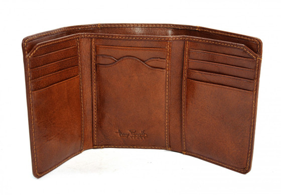 Traditional Tri-Fold with I.D. Window PI418601 | Color Cognac |