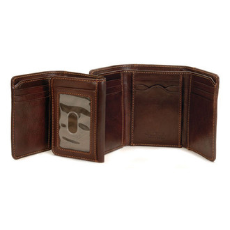Traditional Tri-Fold with I.D. Window PI418601 Brown