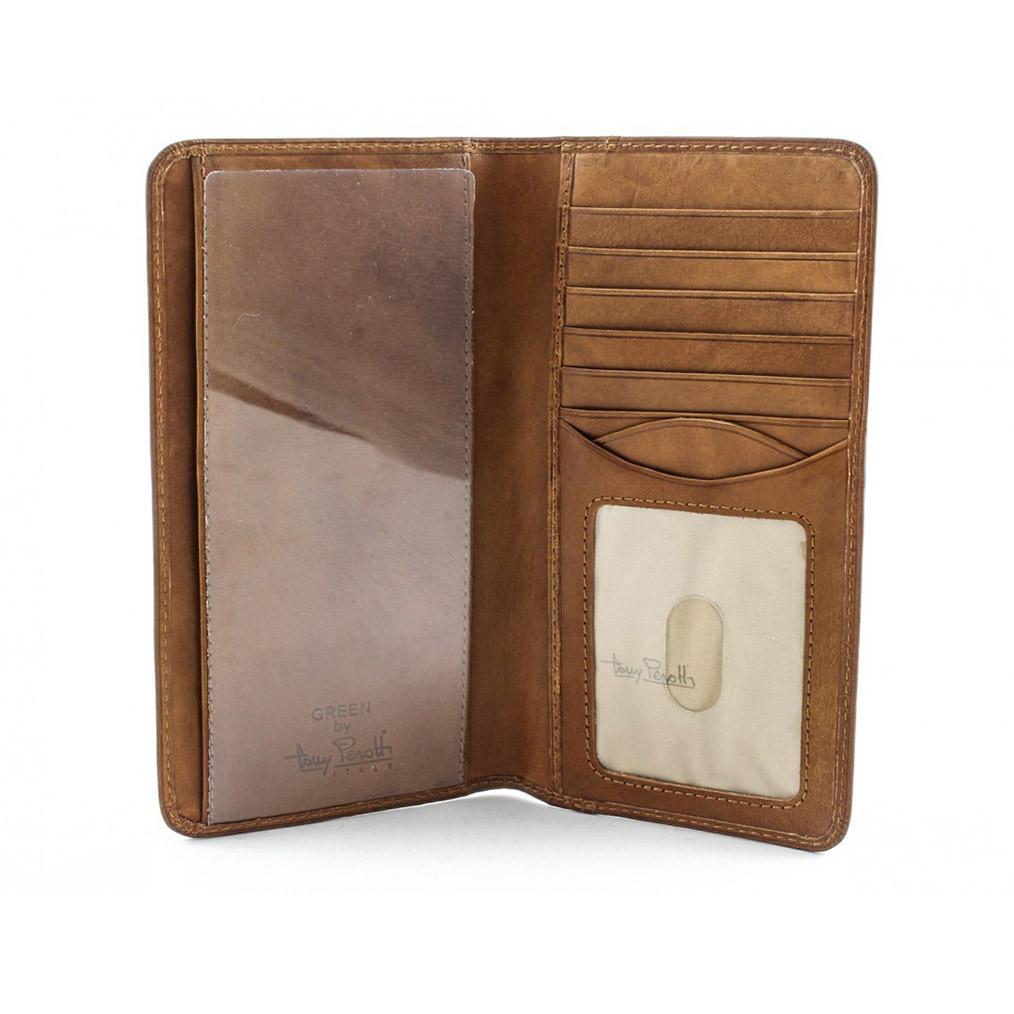 a026ce73a77059 Tony Perotti Mens Italian Cow Leather Bifold Checkbook Breast Pocket ...