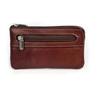 Zippered Key Case PG500202 | Color Brown | Back