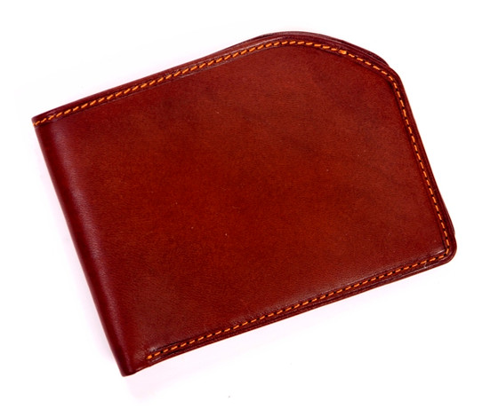 Prima Front Pocket Bi-Fold Wallet with I.D. Window PG418102 | Color Brown | Front