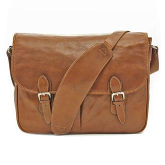 Lorenzo Messenger Bag PG000601 Cognac