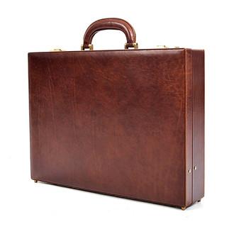 Amalfi Men's Leather Attache Case PI010202 | Color Brown | Front
