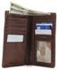 Prima Breast Secretary Men's Bi-Fold Wallet PG409001   Full   Color Brown