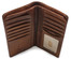 Prima Breast Secretary Men's Bi-Fold Wallet PG409001   Color Honey   Open