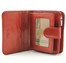 Ultimo Piccolo Wallet with I.D. and Coin Pocket | Red | Open View