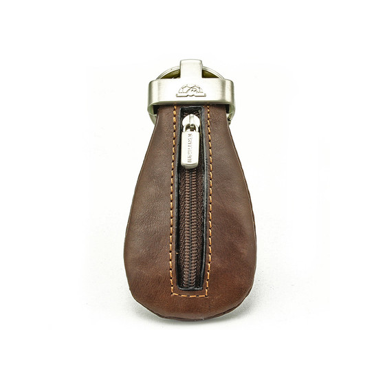 Prima Zippered Coin Pouch Key Chain Coin Purse Holder | Front
