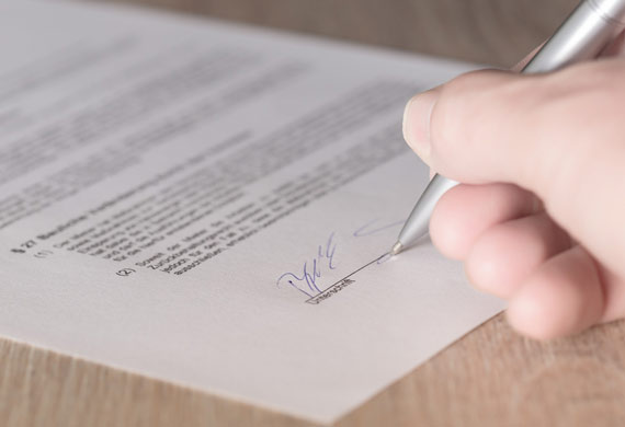 Winning business proposal contract signing