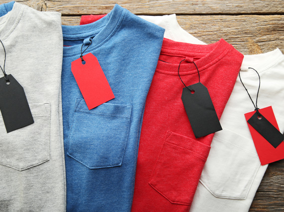 Custom clothing tags for boutique merchandise