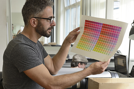 graphic designer matching pantone colors
